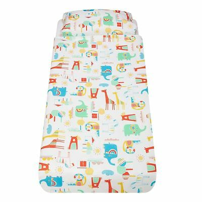 Going to the Zoo Cot-Bed/Pillow Set by The Gro Company Gro-to-Bed - 100% Cotton