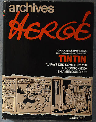 Archives Herge Totor + Tintin  Casterman 1973 E.o