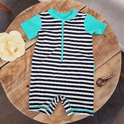 Baby Toddler Girl Short Sleeve One Piece Sun suit Bathers Swimsuit Size 0 6-12M