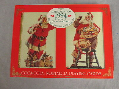 Coca-Cola Company Limited Edition 1994 2 Decks of Coca-Cola Playing Cards