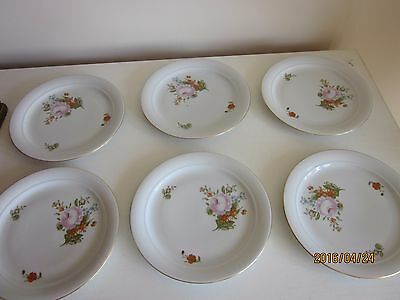"Kahla Dessert Plates  Roses 7.25"" made in Germany set of 6"