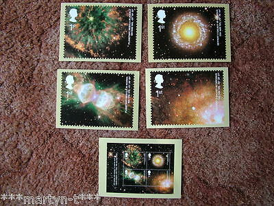 PHQ Stamp card set No 246 Astronomy 2002. 5 card set.  Mint Condition