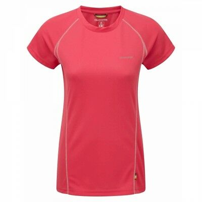 Craghoppers Womens OUTDOOR Wicking Hiking Sports Vitalise T-shirt - Pink D OF E