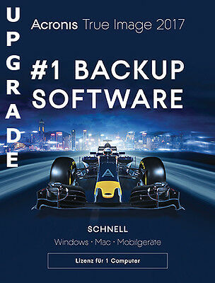 Acronis True Image 2017 Backup & Recovery,Upgrade PC/Mac, Dauerlizenz, Download