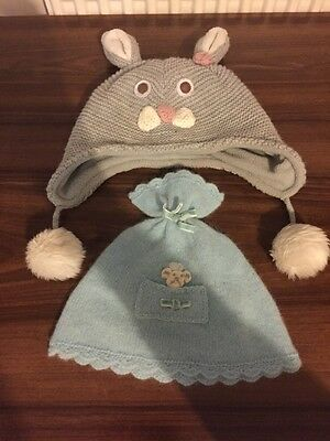 Baby Girls X2 Hats From Monsoon Age 1-3 Years