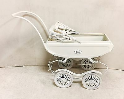 Vintage White Doll Carriage Pram $75