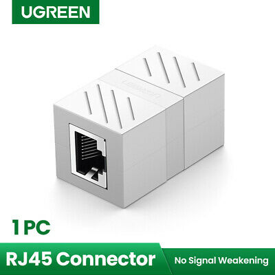 Ugreen RJ45 Coupler InLine Cat7/Cat6/Cat5e Ethernet Cable Extender Adapter White