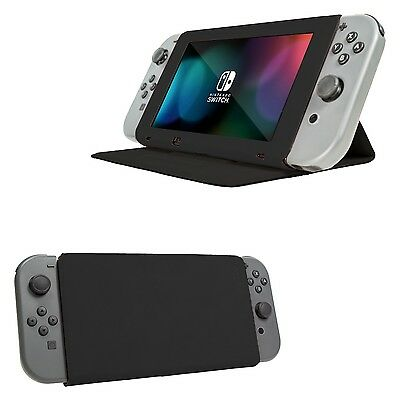 Orzly Stand and Type Case Cover for Nintendo Switch - Black