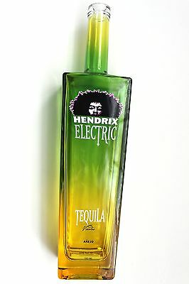 "JIMI HENDRIX Electric Tequila 750ML EMPTY - Voodoo Anejo Very Rare! 14"" Tall"