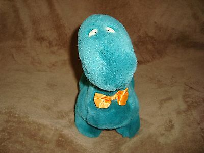 Gund Dinosaur Green Brontosaurus With orange bow tie Plush Sandra Boynton 1992