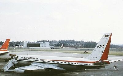 Duplicate colour slide  Boeing 720  N720V  Pacific Northern  pre Oct-67