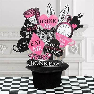 Photo Booth Props Pack Truly Alice In Wonderland Party Photographs