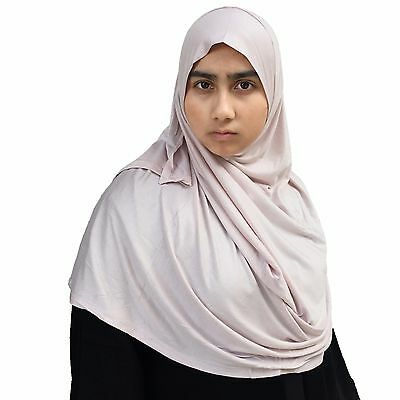 US Seller ~ Hayaa PALE BLUSH Ready-to-Wear Instant Jersey Hijab 2 Face Loop