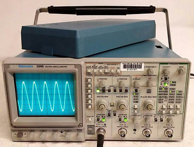 TEKTRONIX 2246 100MHz 4CH OSCILLOSCOPE W/COVER--NO READOUT