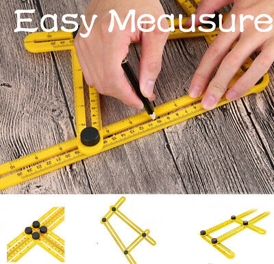 Easy Measuring Instrument Angle-izer Four-Sided Ruler Mechanism Slide Template