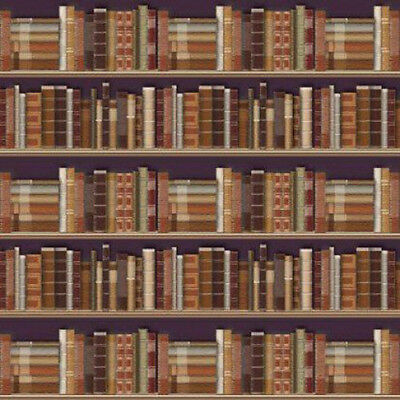 Dolls House Miniature 1:12th Scale Traditional Bookcase Wallpaper