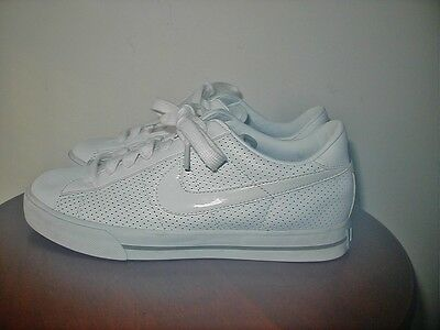 Nike Women's Sweet Classic White Leather Low Shoes Sneakers Sz 8.5 354496-111