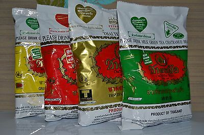 NUMBER ONE BRAND THAI GREEN TEA MIX  / GOLD MIX THAI HOT / COLD DRINK 200-400gr