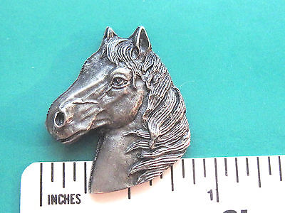 HORSE head  , PONY head  - hat pin , tie tac , lapel pin , hatpin GIFT BOXED