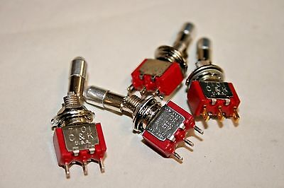 4 PACK Safety Locking Mini Toggle Switch - SPDT - ON/ON - 5A@28VDC (100-210)