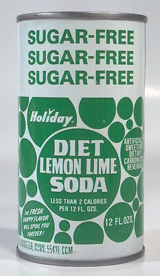 Holiday Diet Lemon Lime Soda Pop Steel Can 12oz A.R.E. Company Bloomington MN