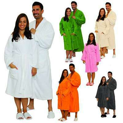 Customized Terry Cloth Cotton Bathrobe Men Women Robe Best Gift with Embroidery