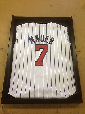 US Made, UV Junior Size Black Jersey Display Case Shadowbox Frame, FREE SHIP!