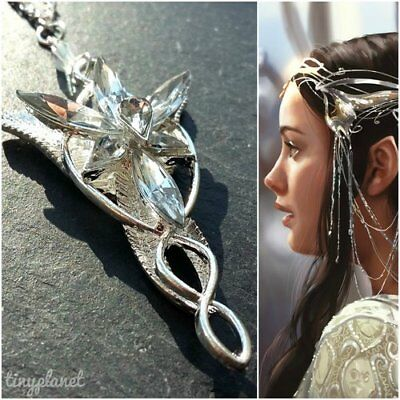 Lord of the rings arwen evenstar necklace pendant lotr hobbit uk lord of the rings arwen evenstar necklace pendant lotr hobbit uk seller aloadofball Images