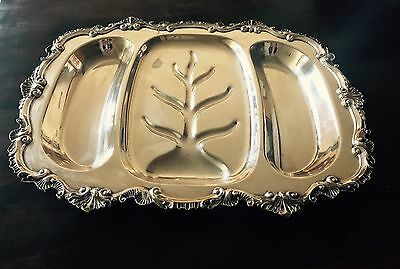 Silver Antique VTG tray Chippendale by Wallace X108