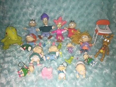 Lot 25 Mattel Rugrats Pickles Family Plastic Figures Retro Accessories