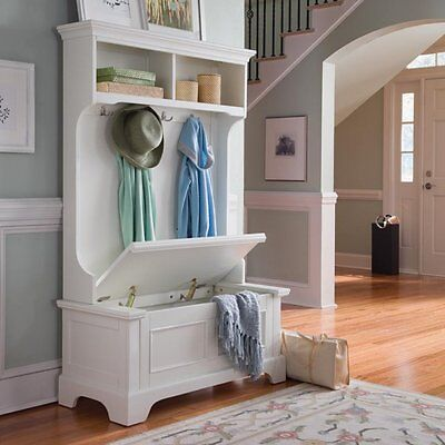 Magnificent White Hall Tree Coat Rack Storage Bench Hooks Entry Way Mud Caraccident5 Cool Chair Designs And Ideas Caraccident5Info