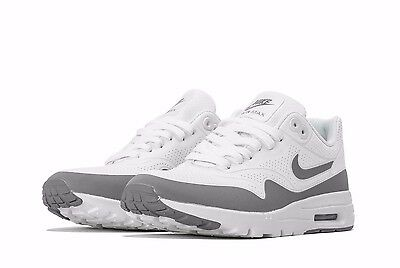 NEW WOMENS NIKE AIR MAX ULTRA MOIRE WHITE GREY ATHLETIC RUNNING SHOES Size 7.5