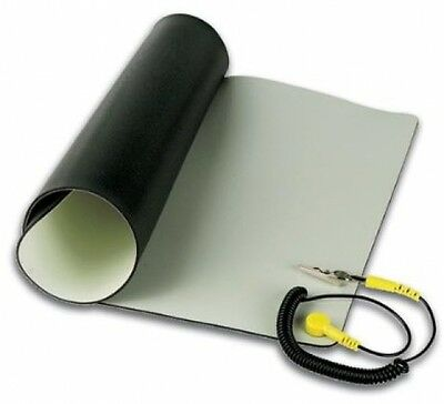 "Repair Anti Static ESD Mat Kit With Ground Cord 11.8"" x 22"" Desktop Table Roll"