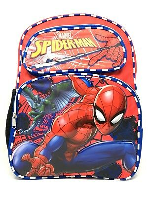"""Marvel Spiderman """"HOME COMING"""" Backpack 16"""" with Lunch Bag/box One Size"""