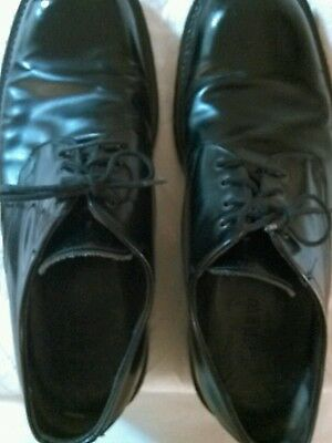 Men's J. CREW Dress Shoes Oxfords Solid Black Leather Lace Up Size 13 M  Italy