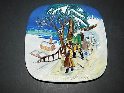 "John Beswick Collectors International Plate ""christmas In Norway"" Ltd Ed 8422/15"