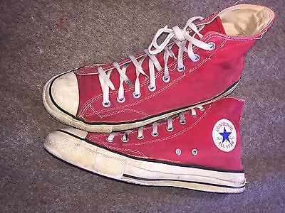 Rare Vintage Converse Extra-stitch Chuck Taylors Men's 11 Red USA