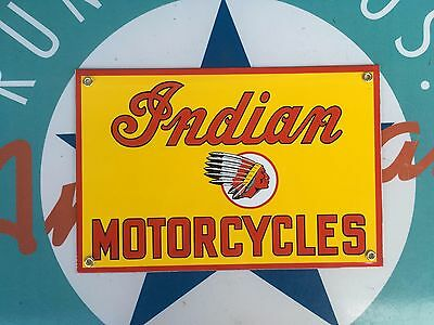 top quality INDIAN MOTORCYCLES porcelain coated 18 GAUGE steel SIGN