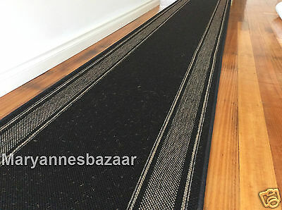 Hallway Runner Hall Runner Rug Modern Black 7 Metres Long FREE DELIVERY