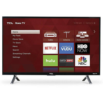 TCL 43 inch 4K Ultra HD 120Hz Roku Smart LED TV with USB & 3 x HDMI | 43S405