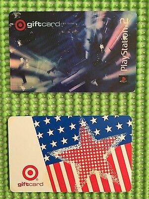Target vintage gift cards 2002 and 2003