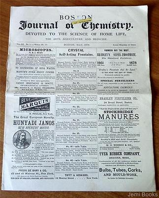 Boston Journal Of Chemistry May 1878 Homeopathy Medical Herb Recipes Good