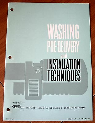 Whirlpool Washing Pre-Delivery and Installation Techniques Lesson No. 1 Good+