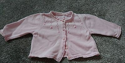 baby girl pink cardigan age 0-3 months from next
