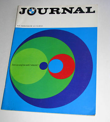 BMW Journal Magazine~September/October 1969~Vol. 8 Number 34~Good Plus~Free Ship