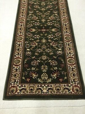 Hallway Runner Hall Runner Rug Green Persian Design 3 Metres Long Free Delivery
