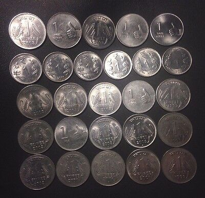 Old India Coin Lot - RUPEES-  26 COINS - Mixed Variety - Lot #M18
