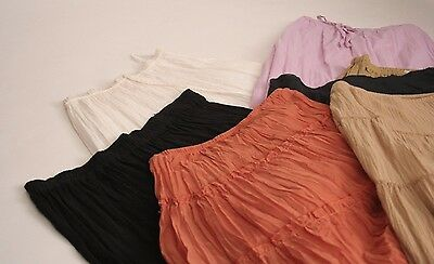 Lot of 7 Long Hippie Boho Skirts Womens Small Wholesale Resale AS IS