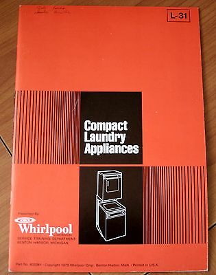 Whirlpool Compact Laundry Appliances L-31, Part No. 602261 Trianing Booklet VG