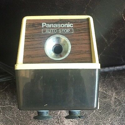 Vintage Panasonic Automatic Pencil Sharpener with Auto Stop Model KP-100 Works